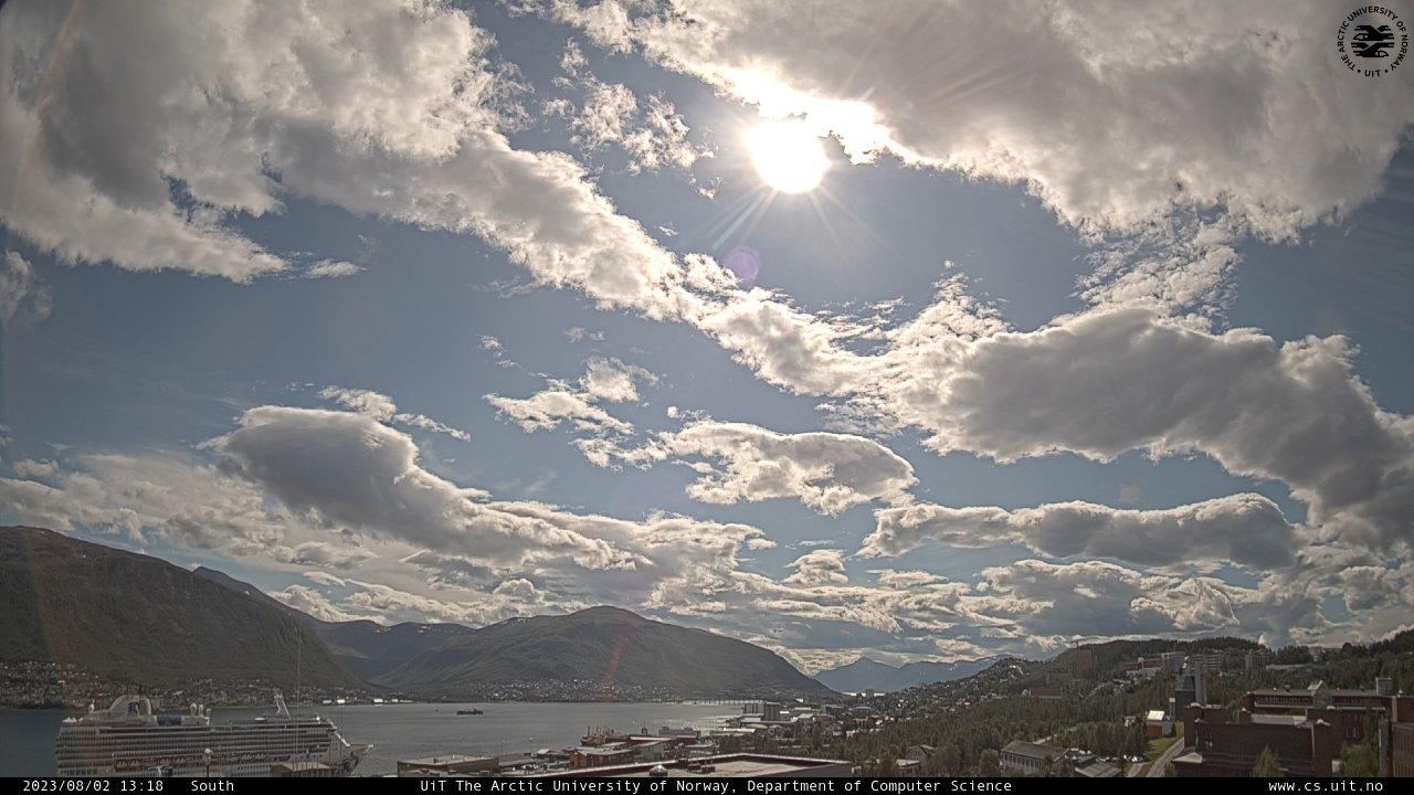 Tromsภ(ein Standbild, laufend aktualisert)