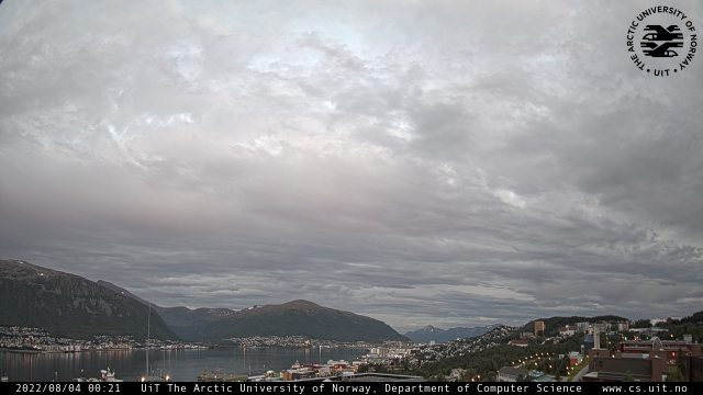 Webcam from Tromsø right now