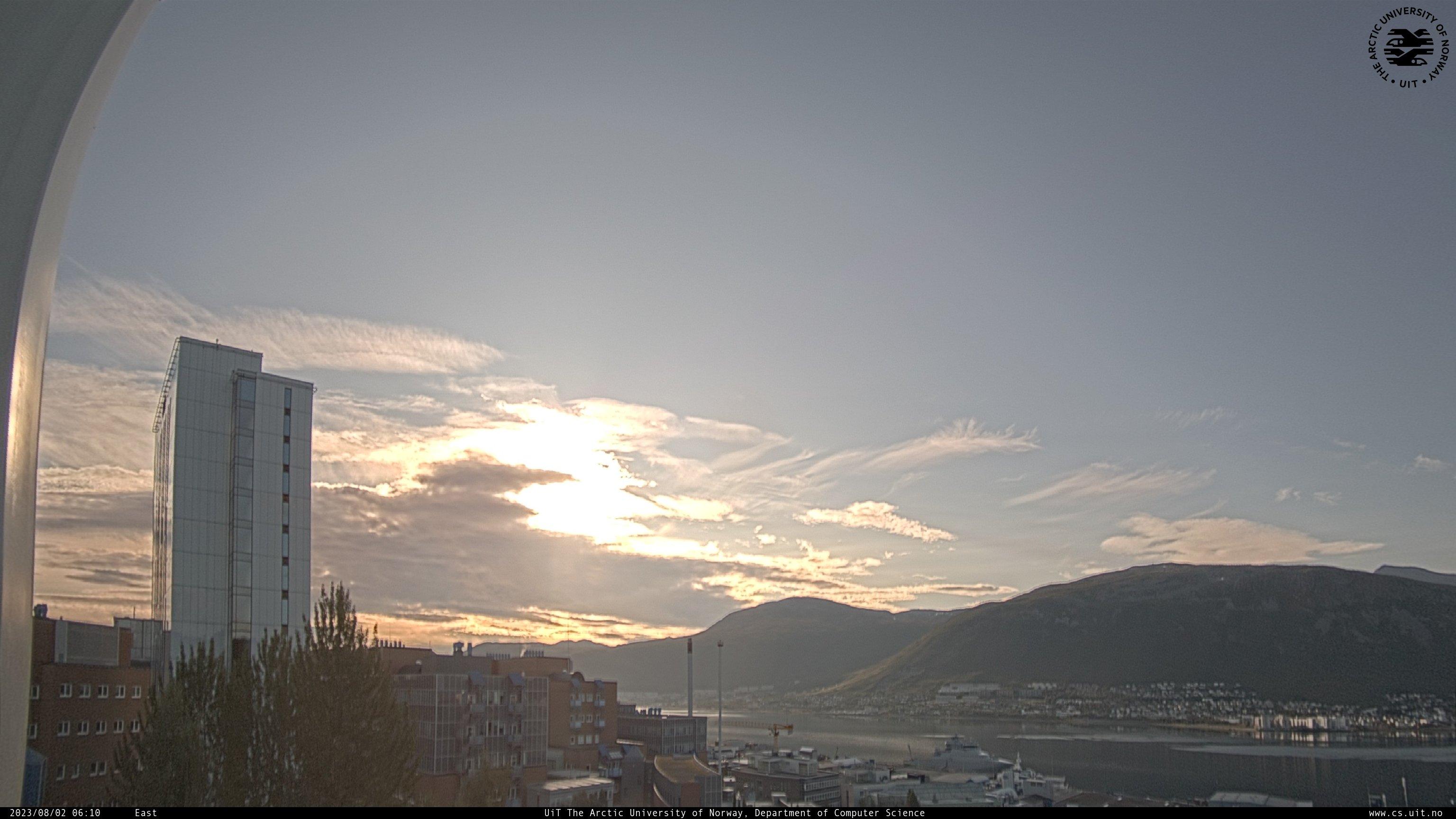 Webcam Université de Tromsø, caméra est