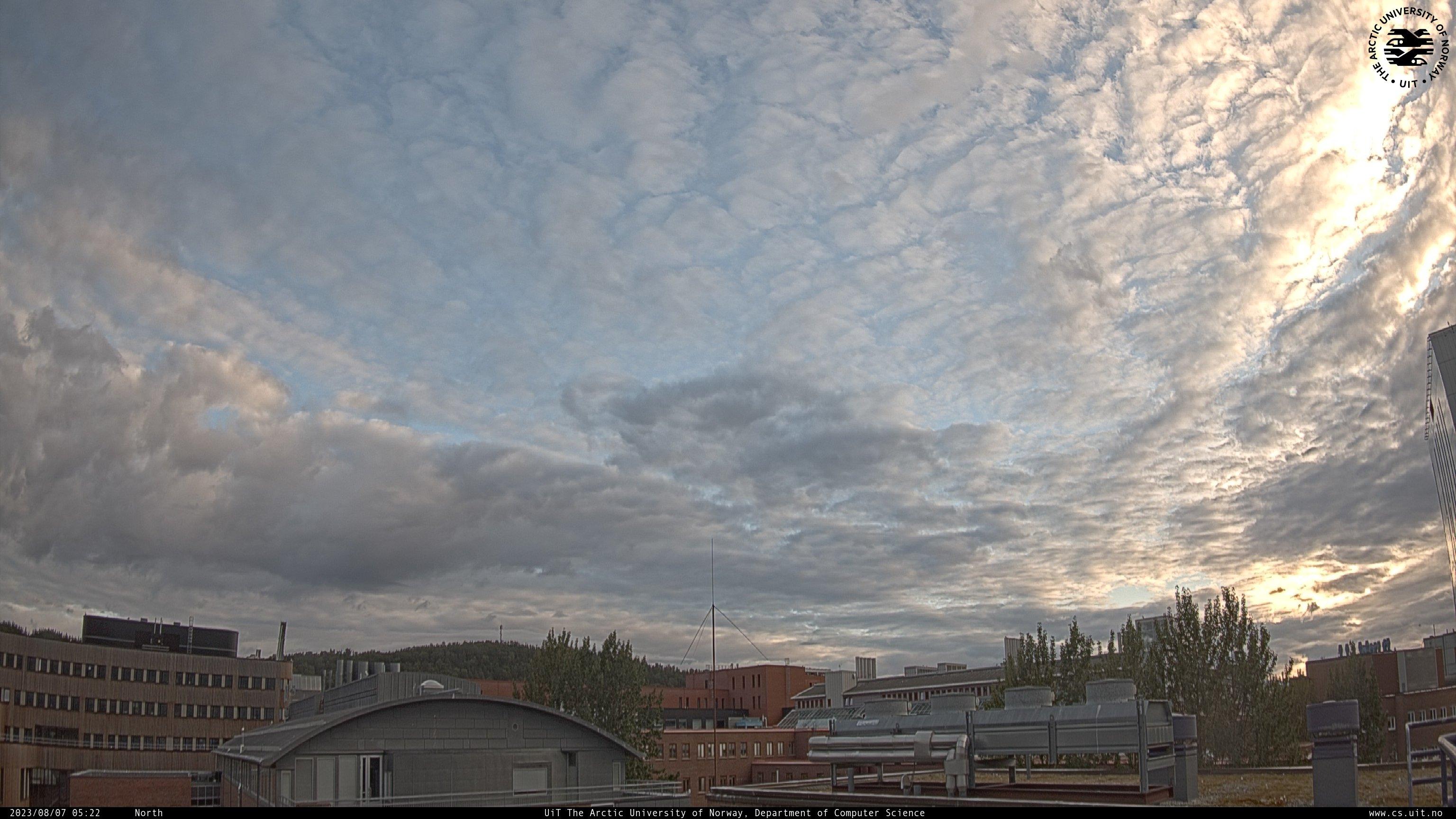 Webcam Université de Tromsø, caméra nord